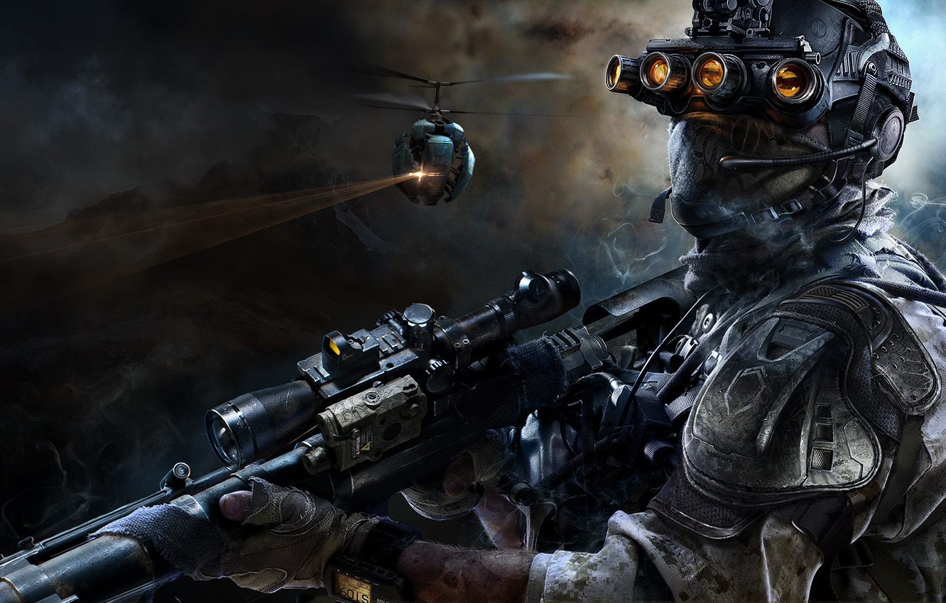 Wallpaper mask costume sniper announcement Sniper Ghost 1332x850