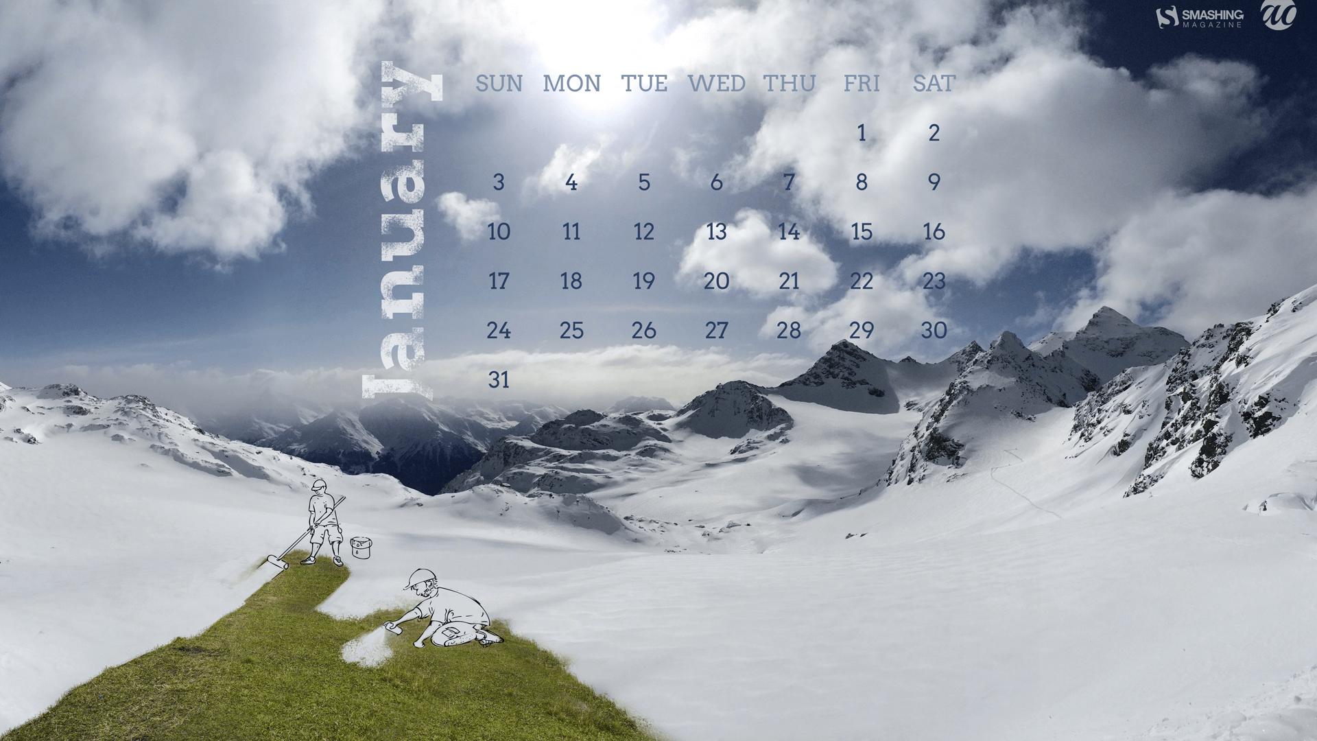 Desktop wallpaper calendar   Ianuarie 2016 Love addiction 1920x1080