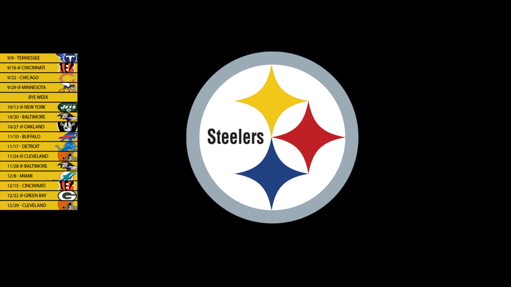 Pittsburgh Steelers 2013 Schedule Wallpaper by SevenwithaT on 1024x576