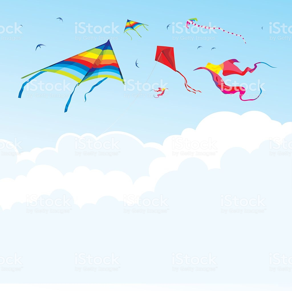 Kites And Birds On The Background Of Sky And Clouds Stock 1024x1023