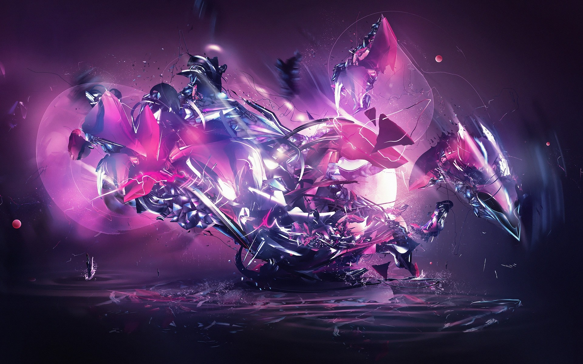Dragon Explosion Pink Abstract wallpapers Dragon Explosion Pink 1920x1200