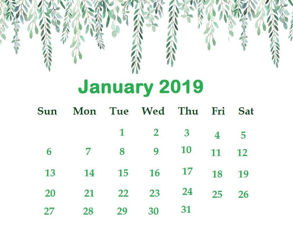January 2019 Desktop Background Wallpaper Latest Calendar 1010x838