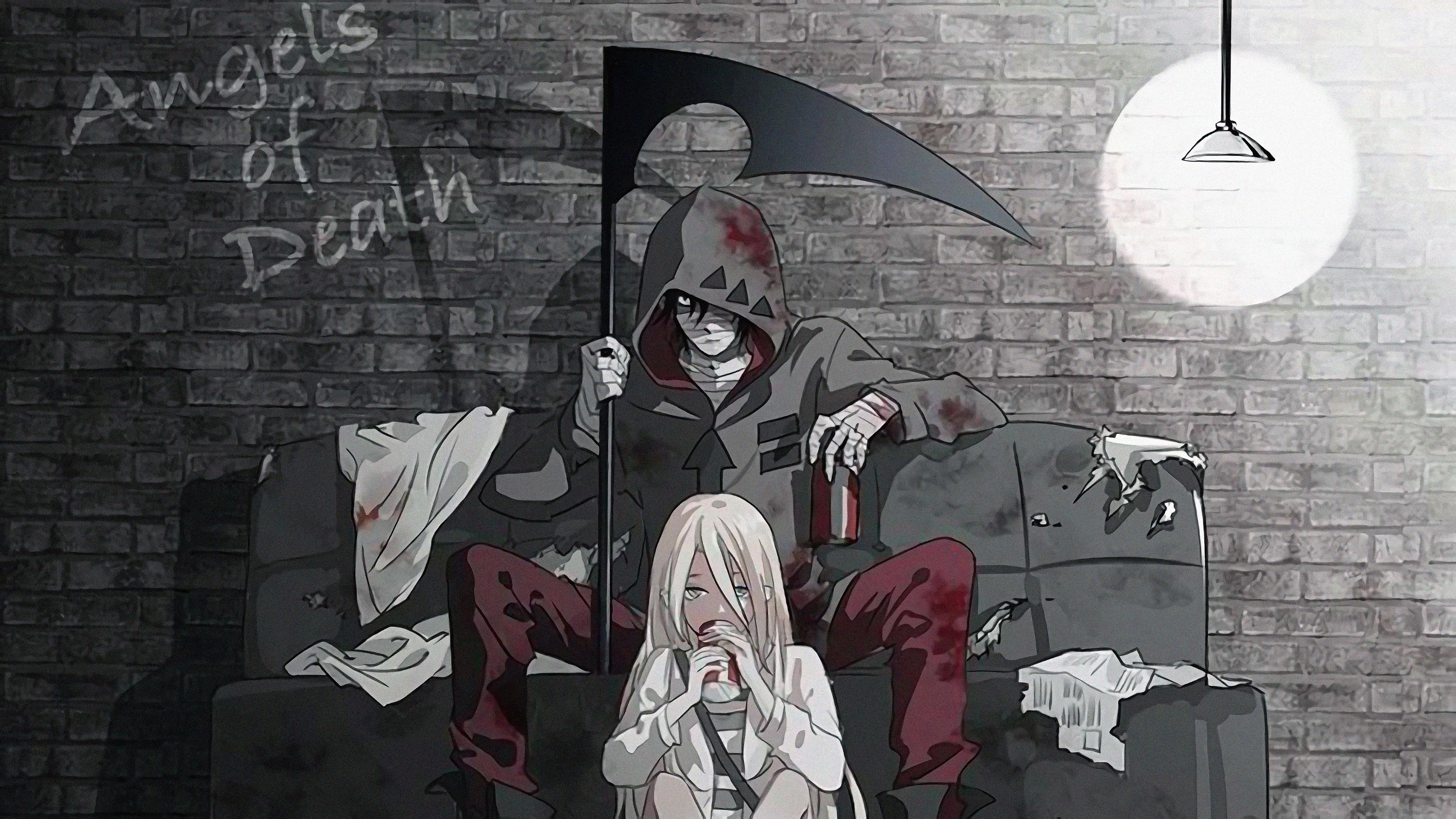 Zack Isaac Foster Rachel Gardner Angels of Death Satsuriku no 3840x2160