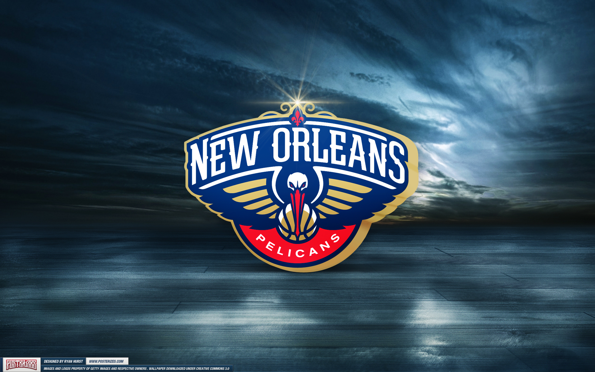 Free Download New Orleans Pelicans Logo Wallpaper Posterizes