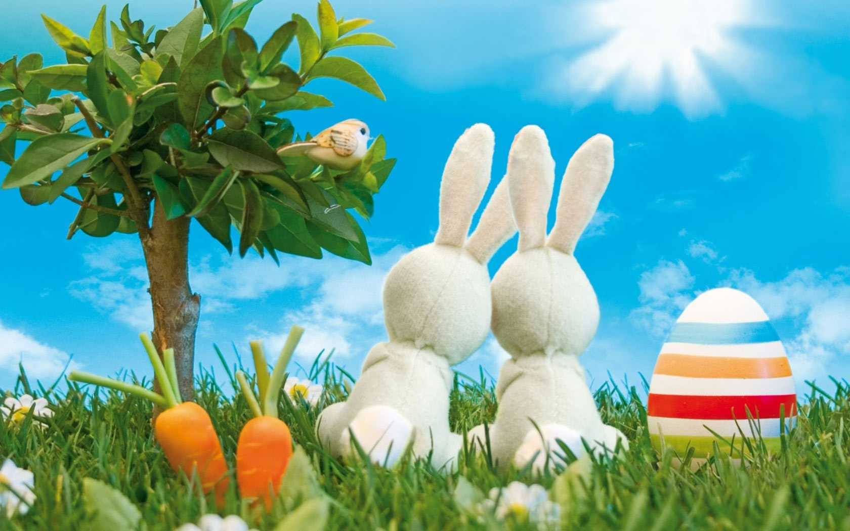 Pics Photos   Easter Bunny Full Hd Wallpaper 1680x1050