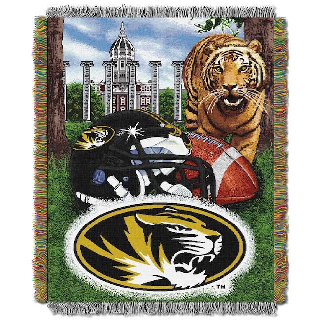 NCAA Missouri Tigers Home Field Advantage 48x 60 Tapestry Throw   Buy 650x650