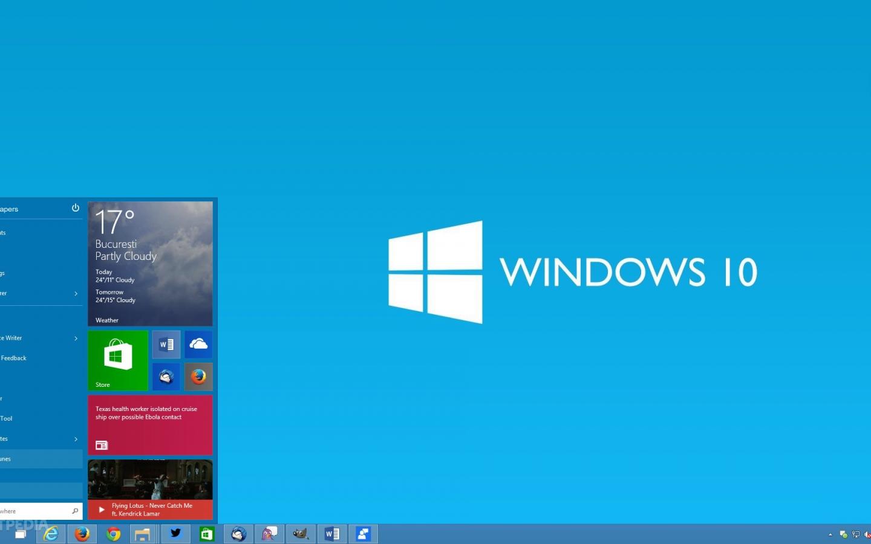 download Windows 10 Microsoft Operating System fake desktop 1440x900