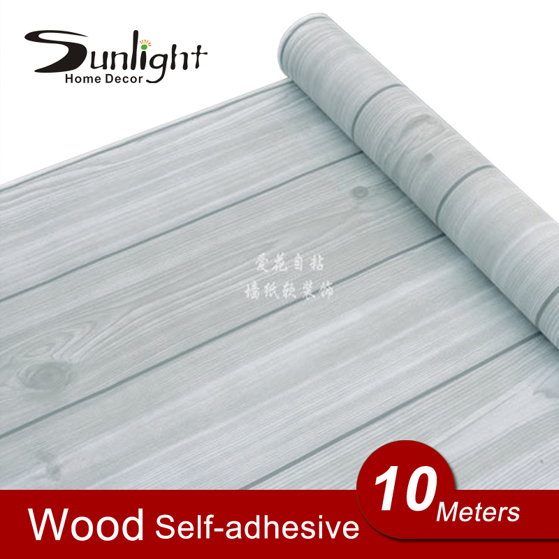 Fashion Wood Grain Wallpaper Roll Self Adhesive Wall Paper Wooden 800x800