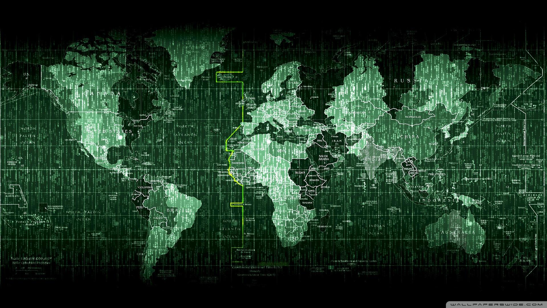 1920x1080 Matrix World Map wallpaper 1920x1080