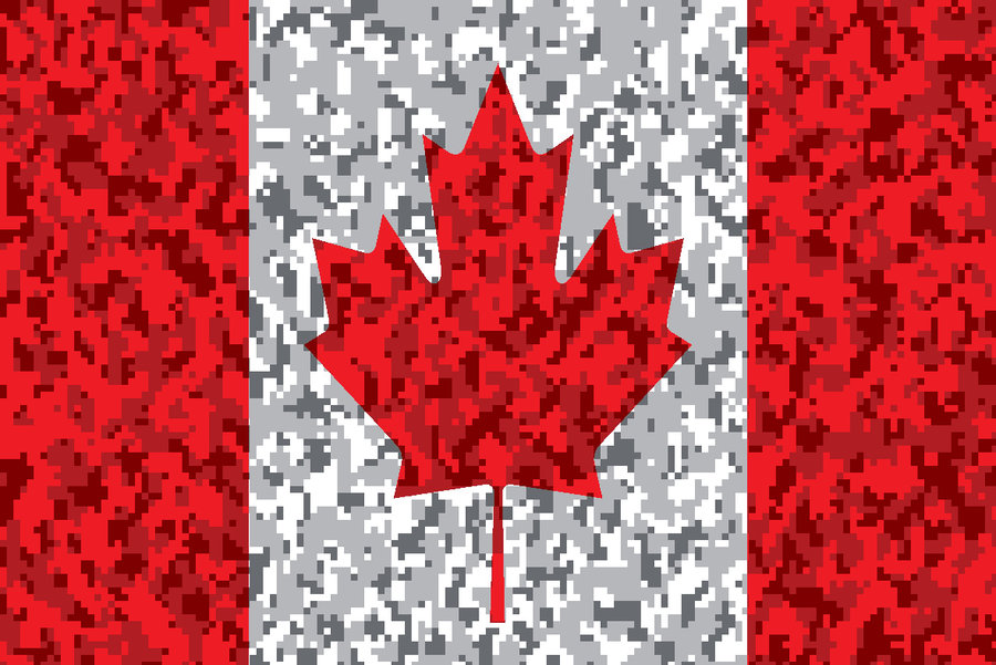 Canadian Digital Camo Flag by YoMamaFoo 900x601