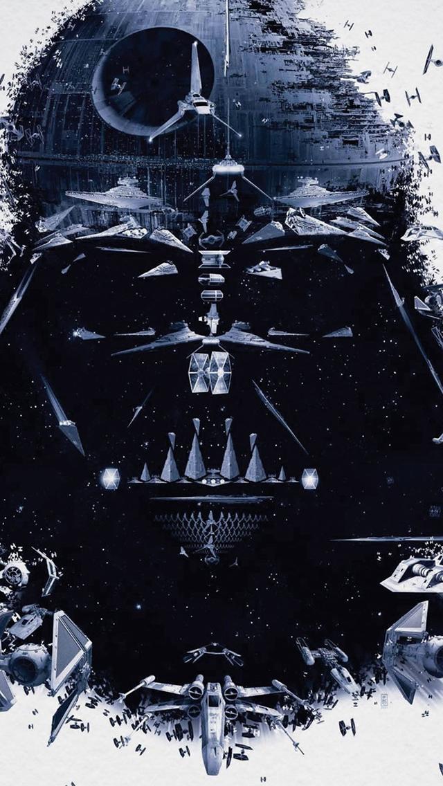 Darth Vader Death Star iPhone 5 Wallpaper 640x1136 640x1136