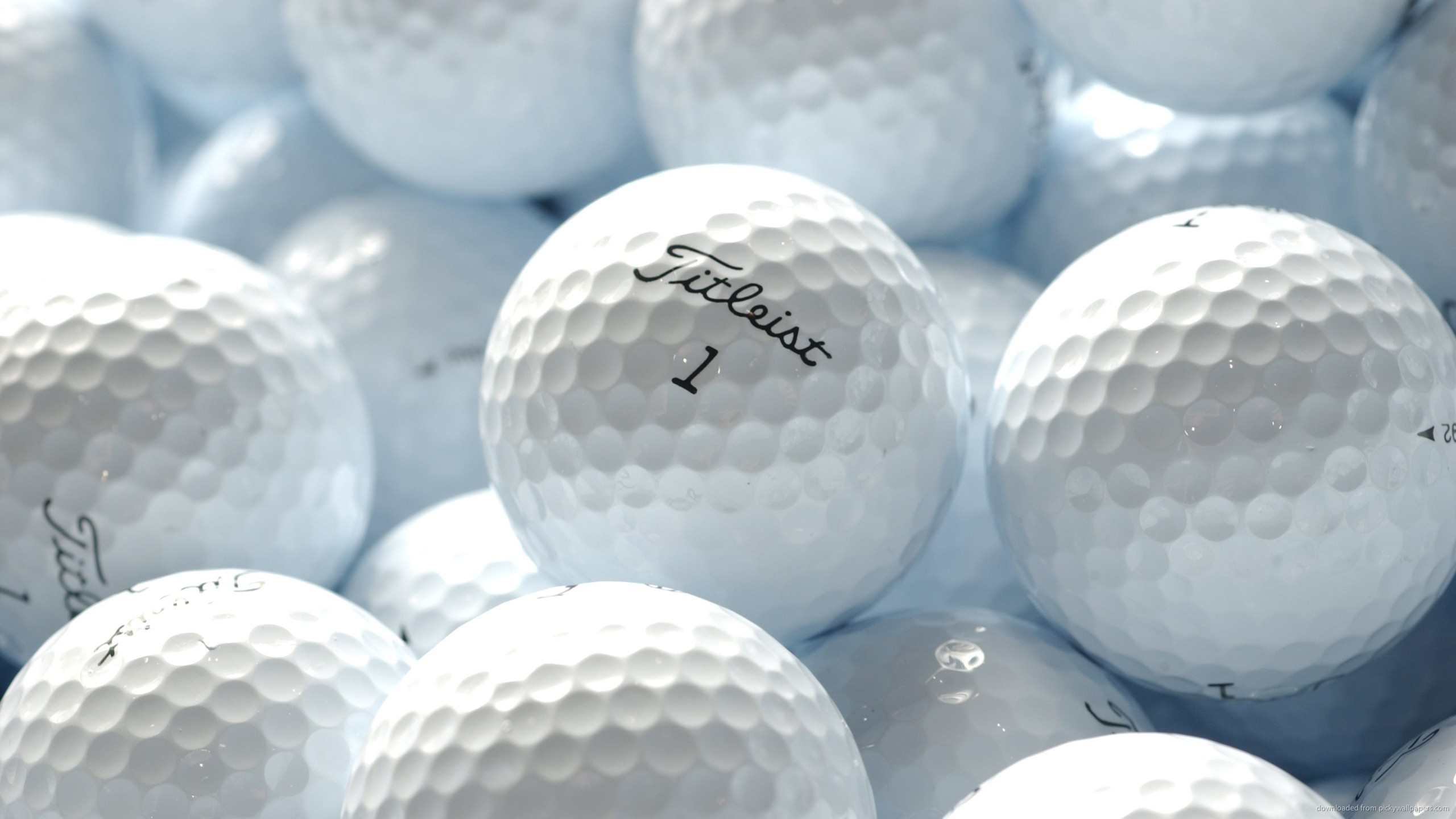 White Titleist Golf Balls HD Desktop Mobile Wallpaper Background 2560x1440