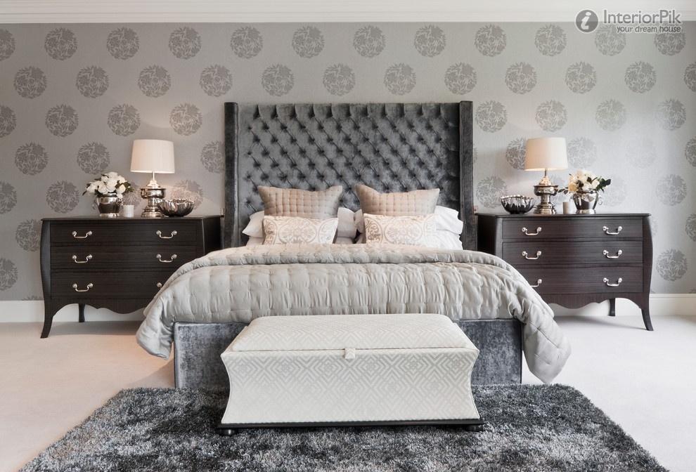 bedroom wallpaper decoration effect Modern bedroom modern bedroom 990x672