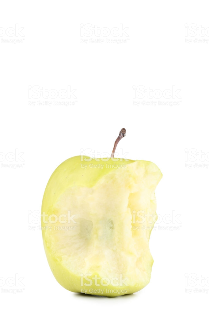 Green Apple Stub Isolated On White Background Stock Photo 682x1024