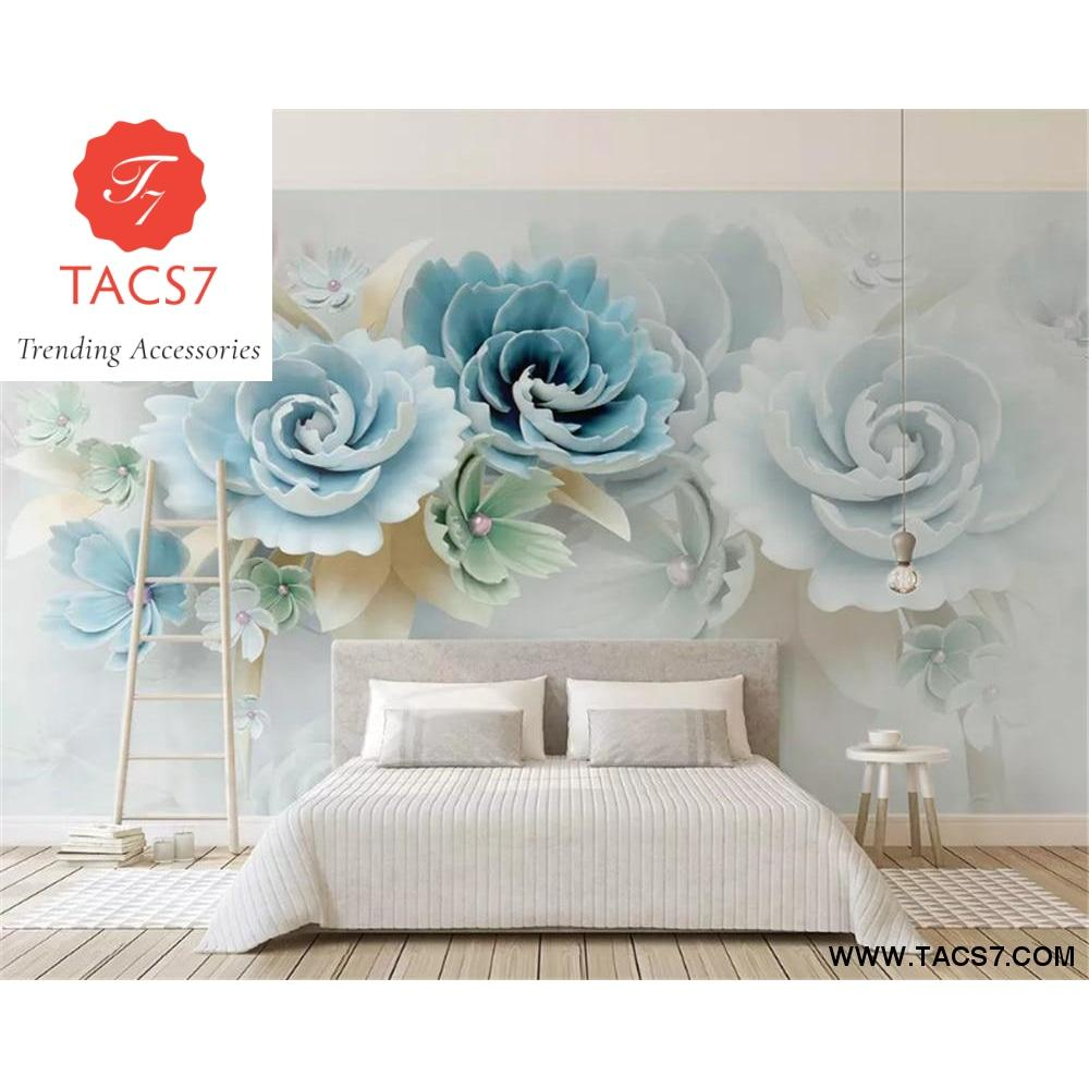 Silky wallpaper stereo new 3d stereo embossed flowers 1 square 1000x1000