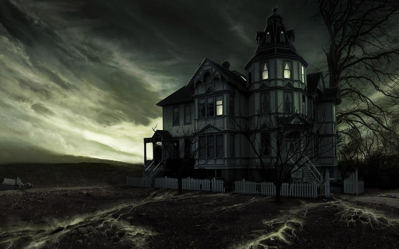 Haunted House   Halloween Wallpaper 16050647 1280x800