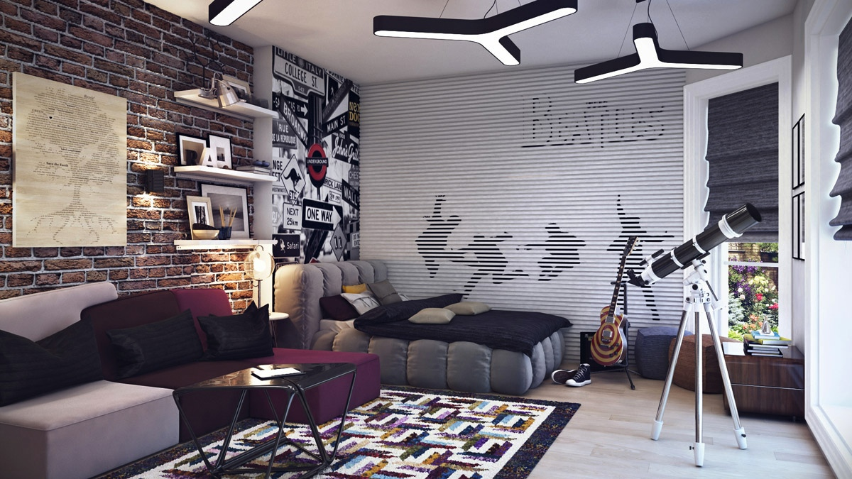 terrific young teenagers rooms - Cool Wallpaper Designs For Bedroom