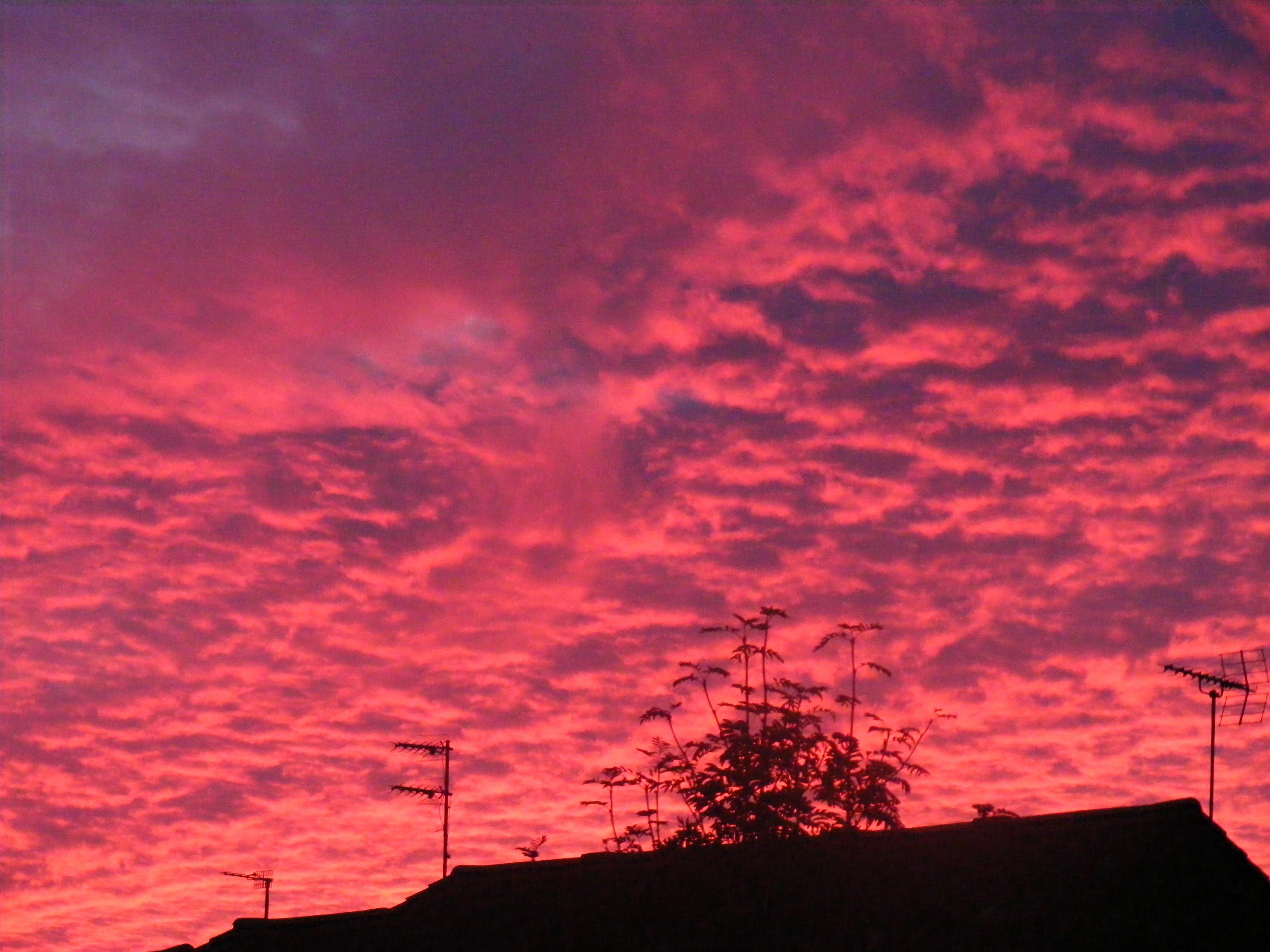 The Sea Night Orange Sunset 3264x2448