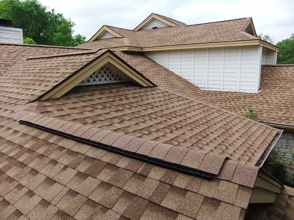 Large House Roofing With Composite Shingles Wallpaper 1024x768