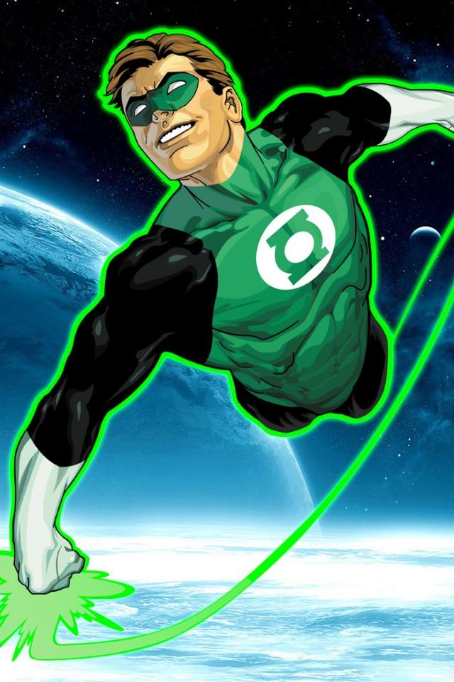 640x960 Green Lantern Flying Iphone 4 Wallpaper 640x960