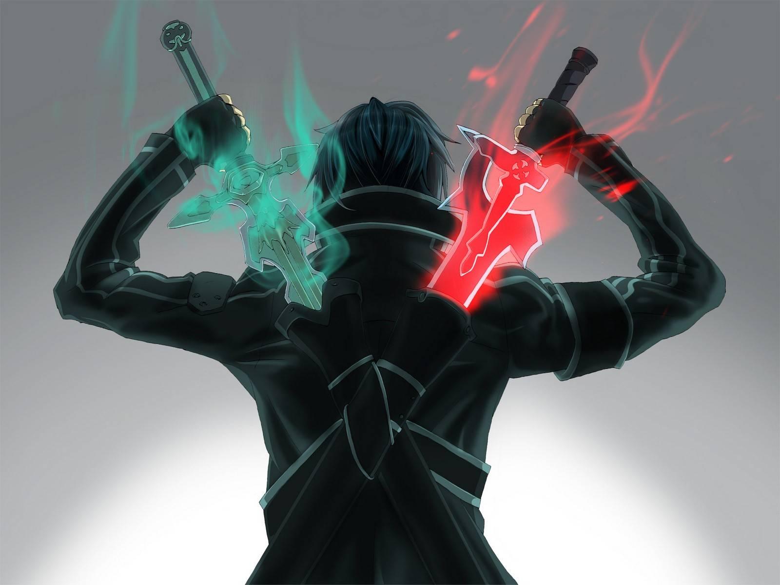stuffpoint anime anime manga images pictures epic kirito backshot 1600x1200