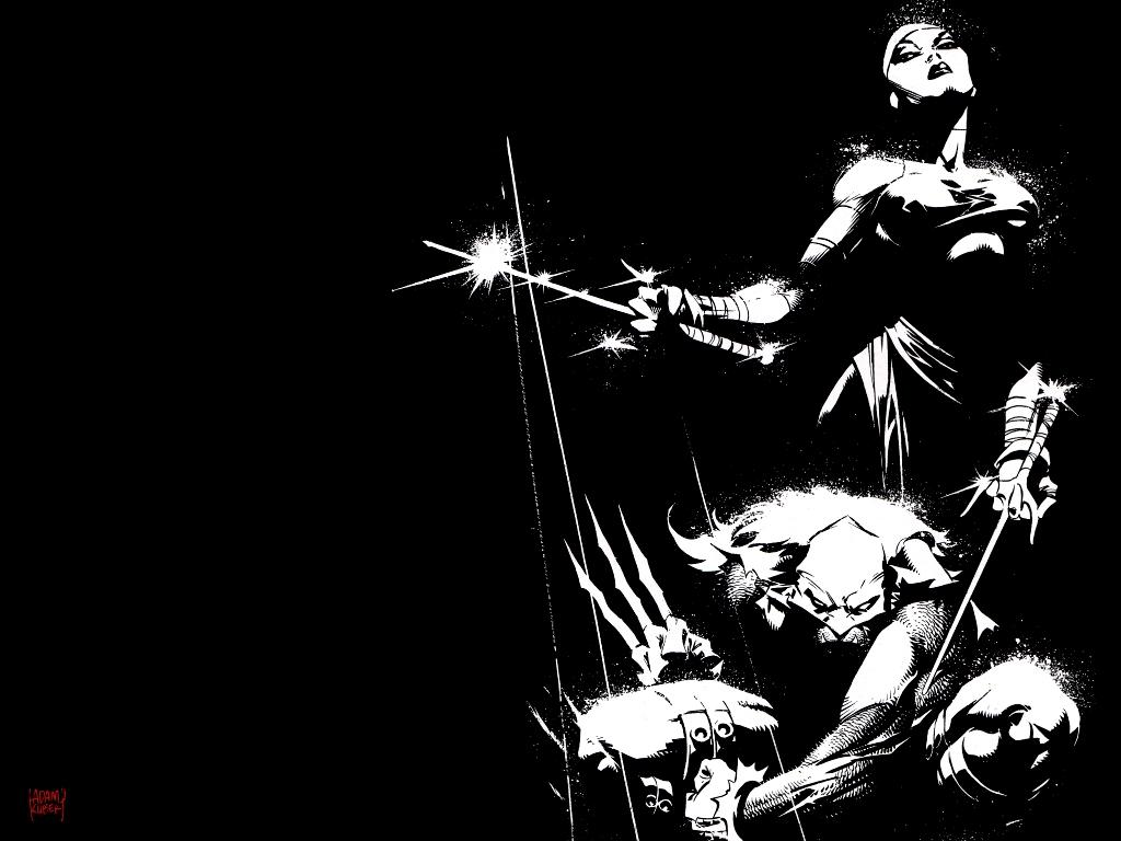 Elektra Wallpaper 1024x768 Wolverine Elektra Marvel Comics 1024x768