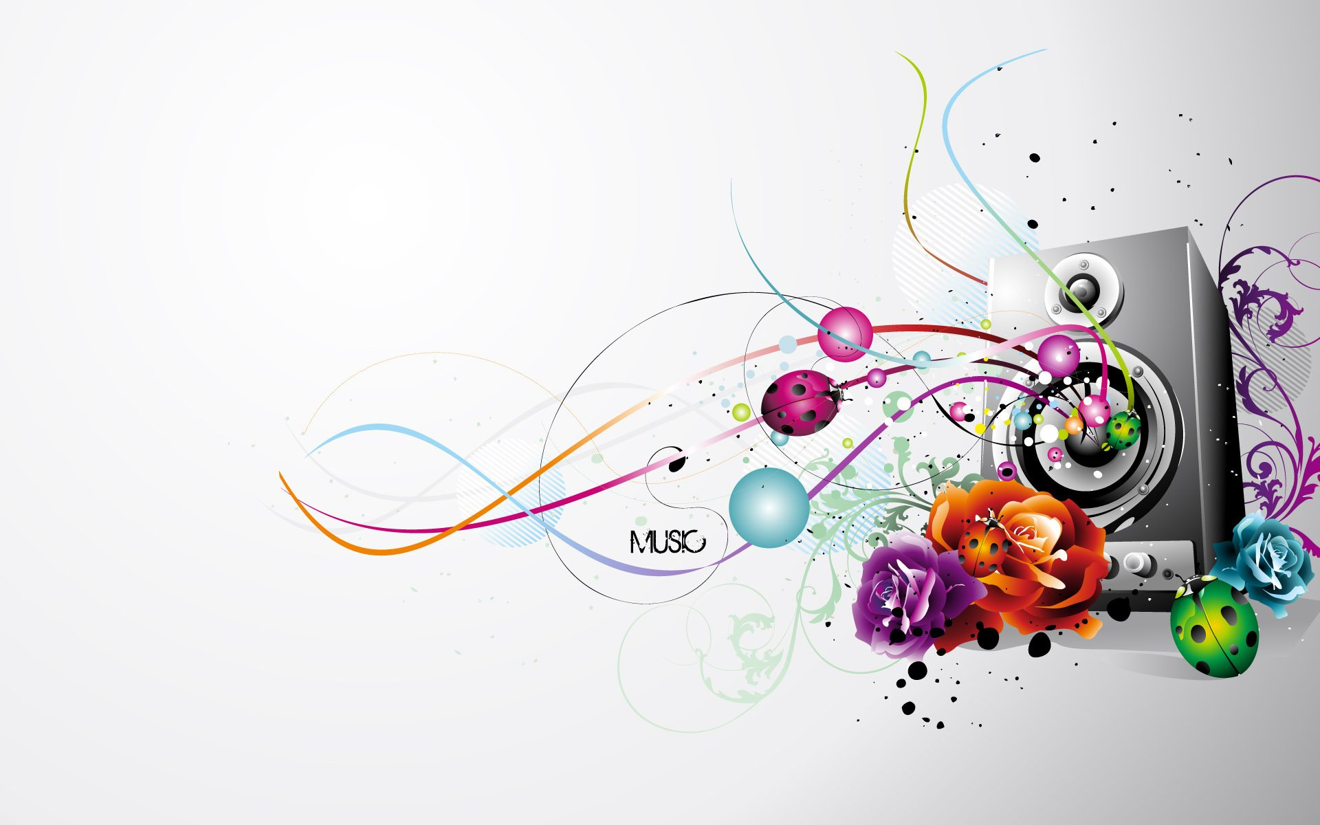 Abstract Art Music Notes Background 1 Hd Wallpapers: Wallpaper Music Artist