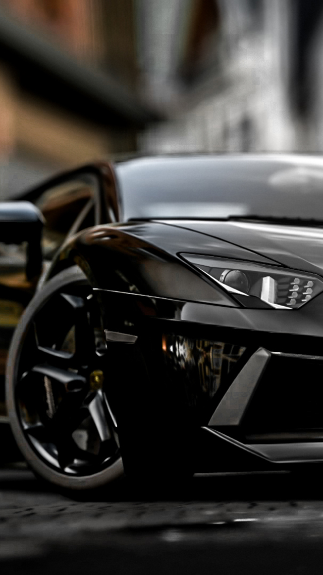 lamborghini aventador lp700 4 iphone wallpaper tags aventador black 640x1136