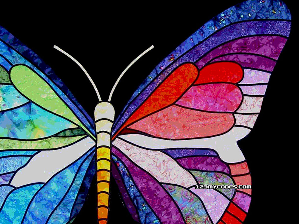 Colorful Butterfly Backgrounds 2 Widescreen Wallpaper 1024x768