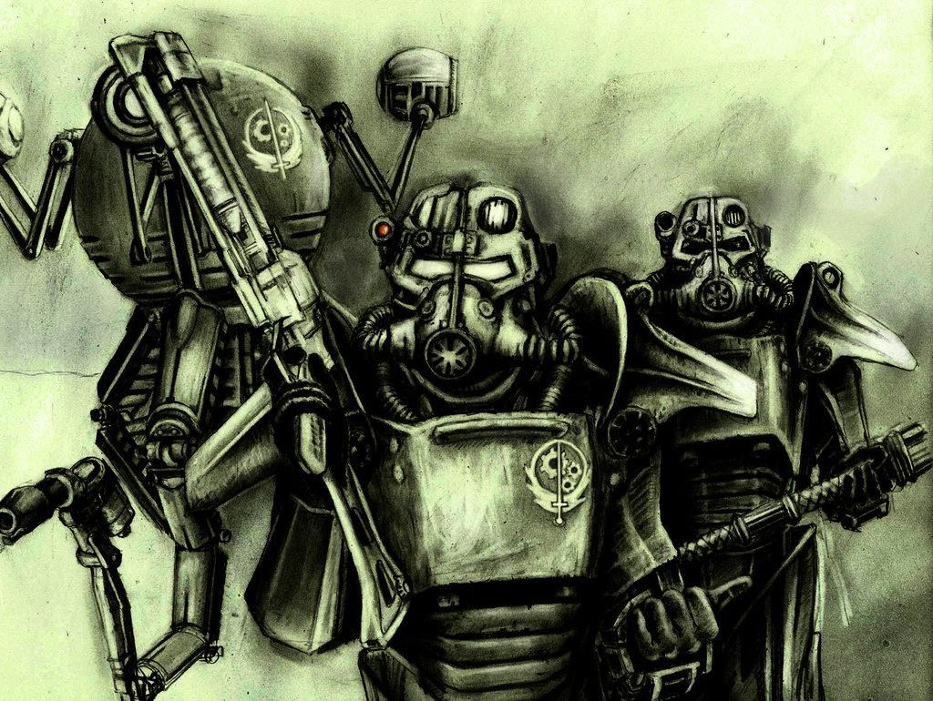 fallout brotherhood of steel wallpaper wallpapersafari