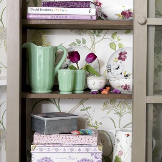 wallpaper inside cabinets n i f t y Pinterest 550x550