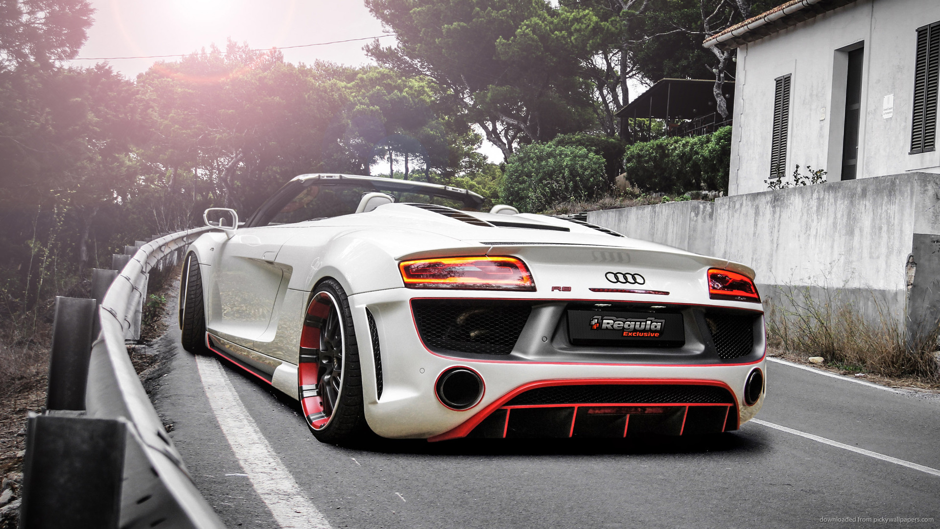 Download 1920x1080 Audi R8 V10 Spyder Regula Tuning Wallpaper 1920x1080
