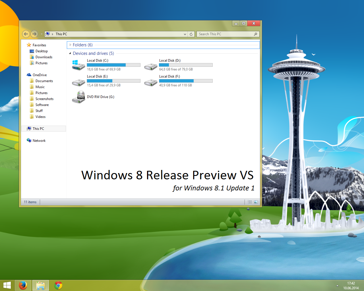 Windows 8 Release Preview VS for Windows 811 by Misaki2009 on 1280x1024