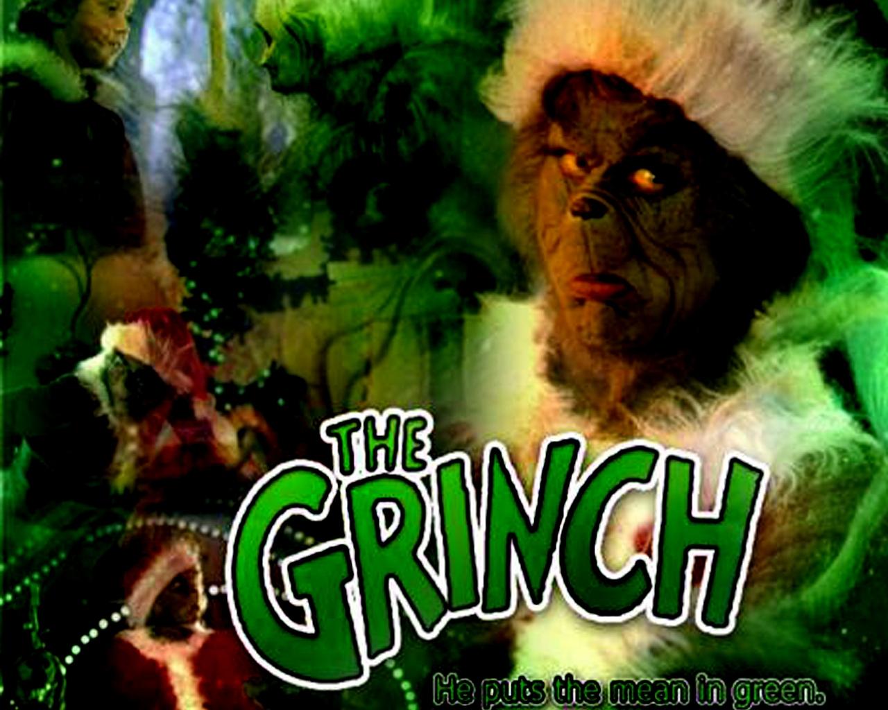 Jim Carey as The Grinch Christmas Wallpaper   Christmas Cartoon 1280x1024