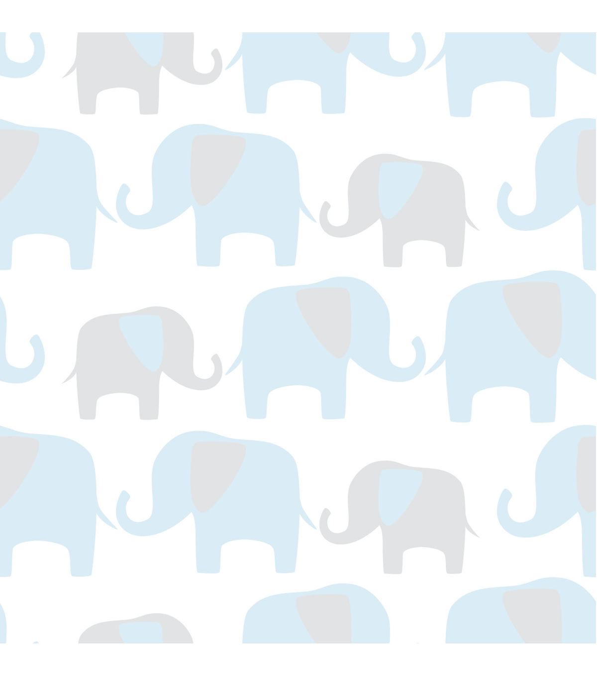WallPopsNuWallpaper Blue Elephant Parade Peel And Stick Wallpaper 1200x1360