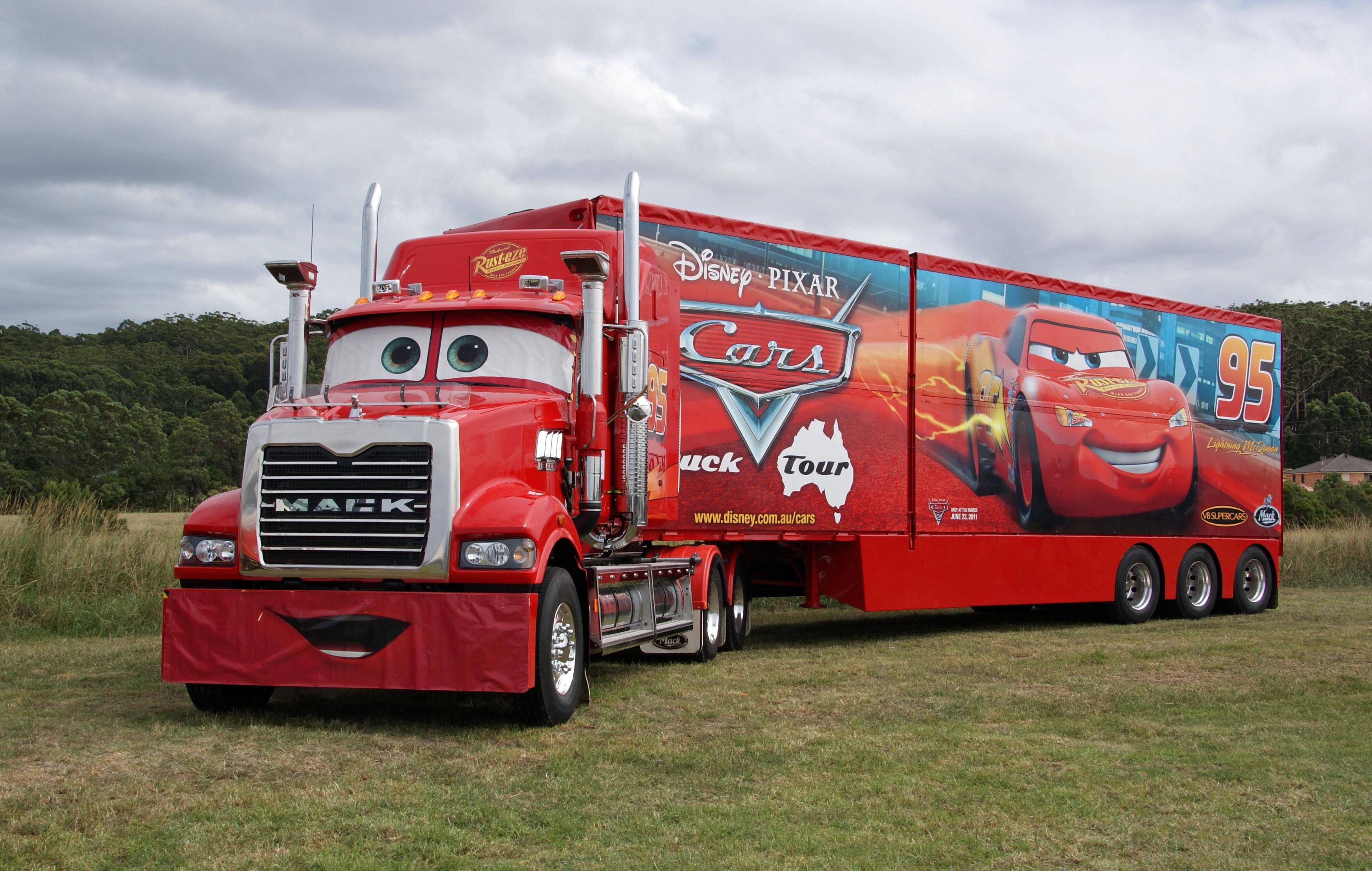 Mack Truck car cartoon disney grass mack pixar truck 3511x2229