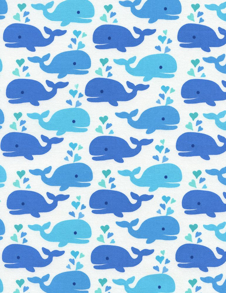 Cute Whales Timeless Treasures Fab Fabrics Whale bathroom 770x1000