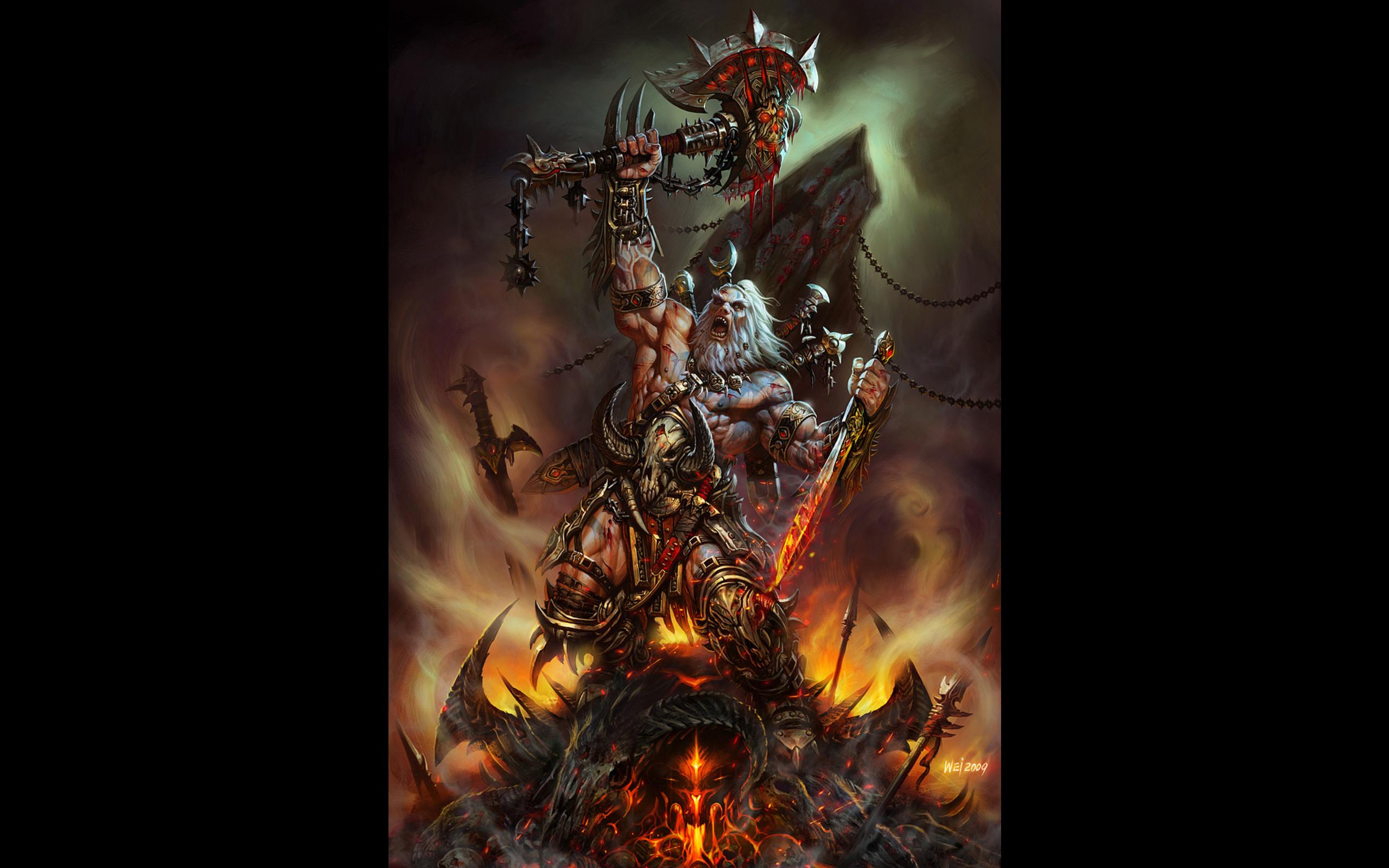 Diablo 3 Barbarian Wallpaper image gallery 2560x1600