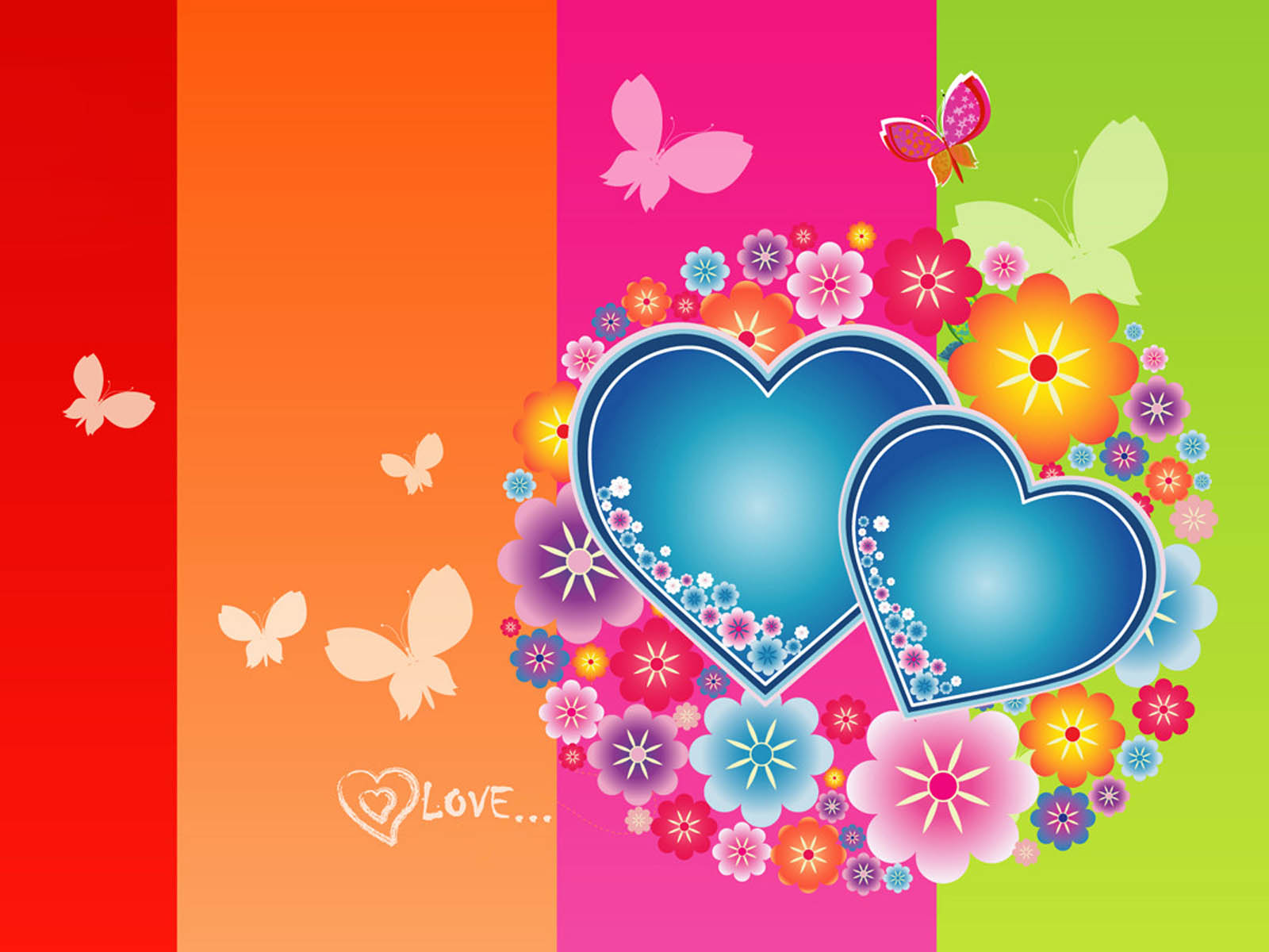 wallpaper Love Heart Wallpapers 1600x1200