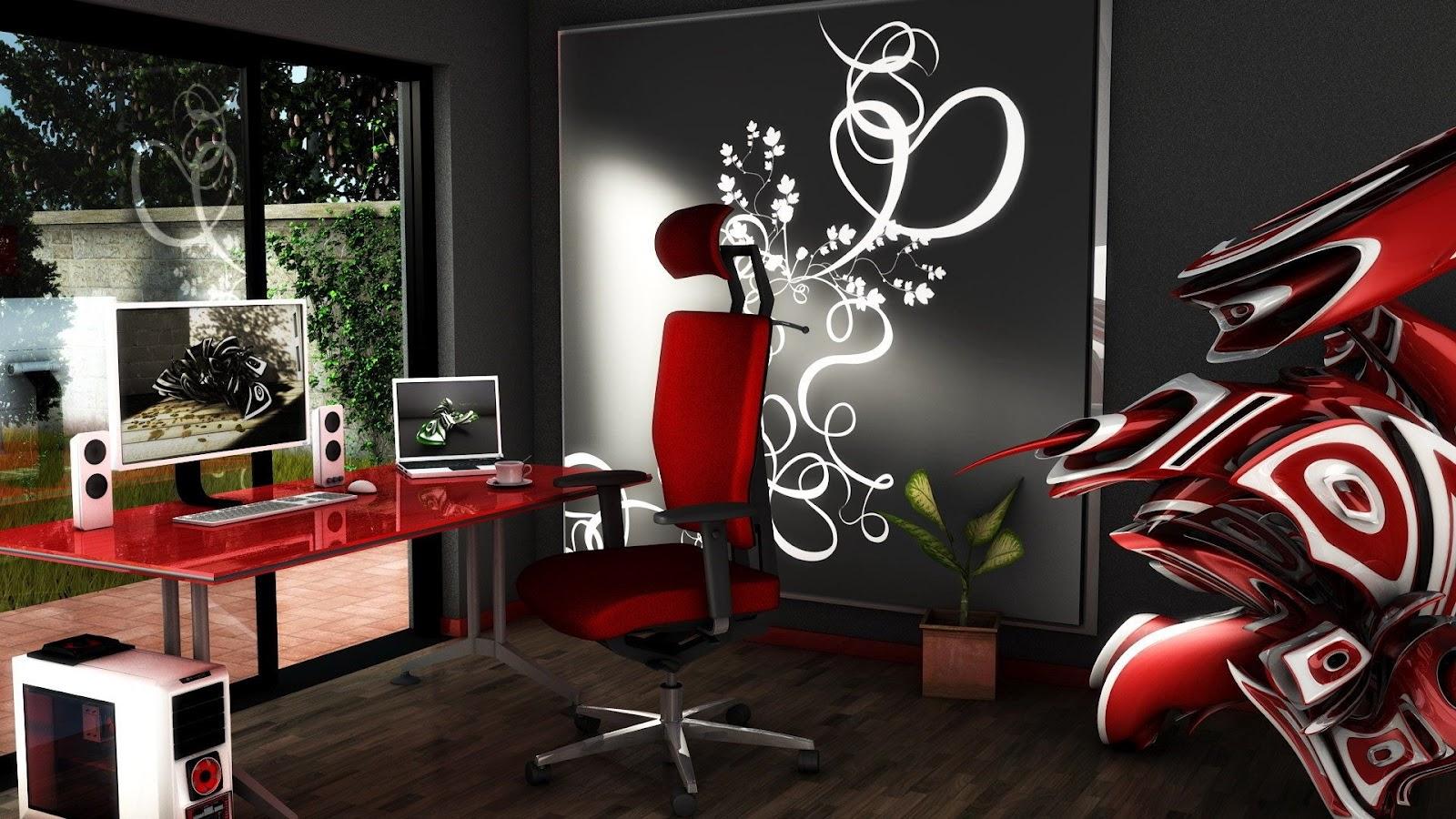 Brilliant 3D Office Wallpaper Wallpapersafari Largest Home Design Picture Inspirations Pitcheantrous