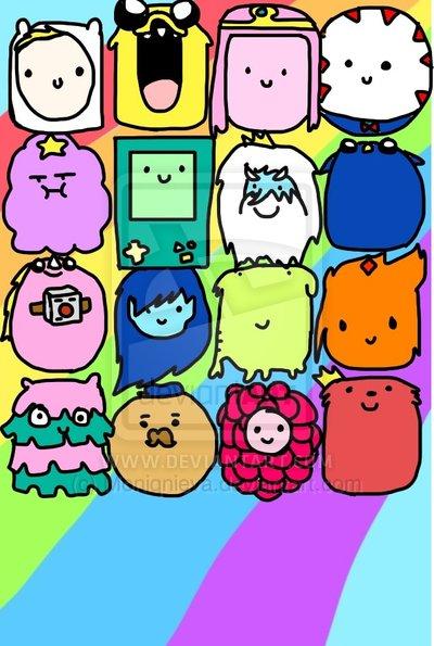 Adventure Time Home Screen Wallpaper 2 Apple by Moniqnieva 400x595