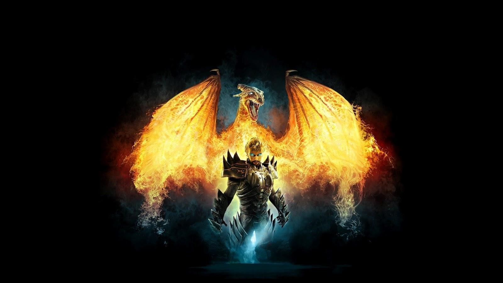 Dragon on Fire Full HD Desktop Wallpapers 1080p 1600x900