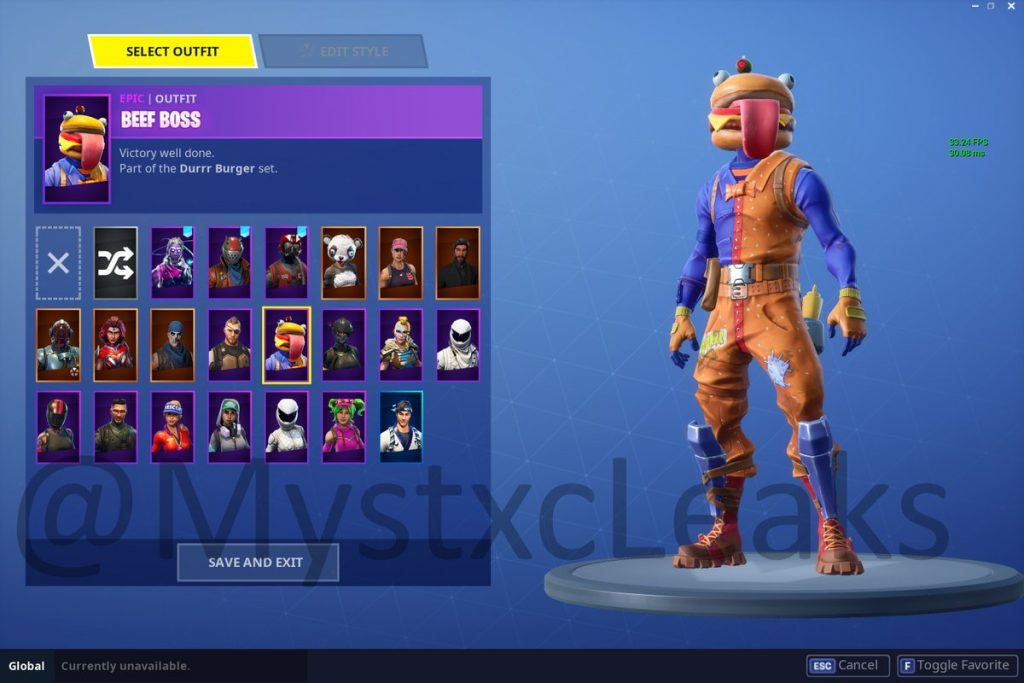 In game Images of the Newly Leaked v52 Skins Fortnite Insider 1024x683