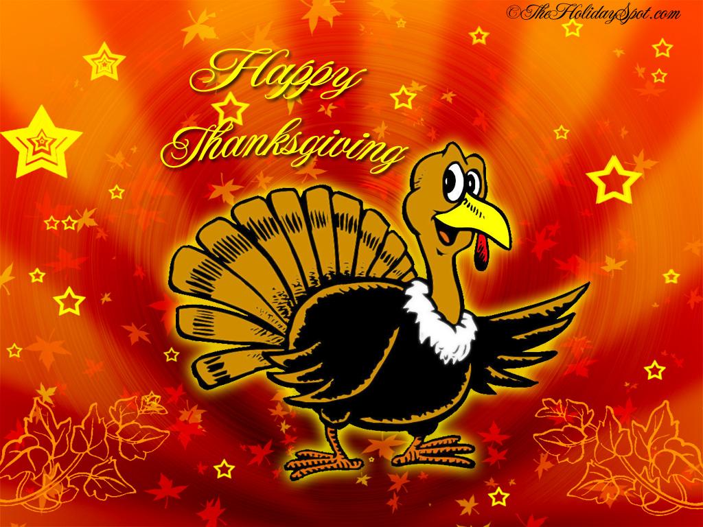Turkey saying happy thanksgiving 1024x768