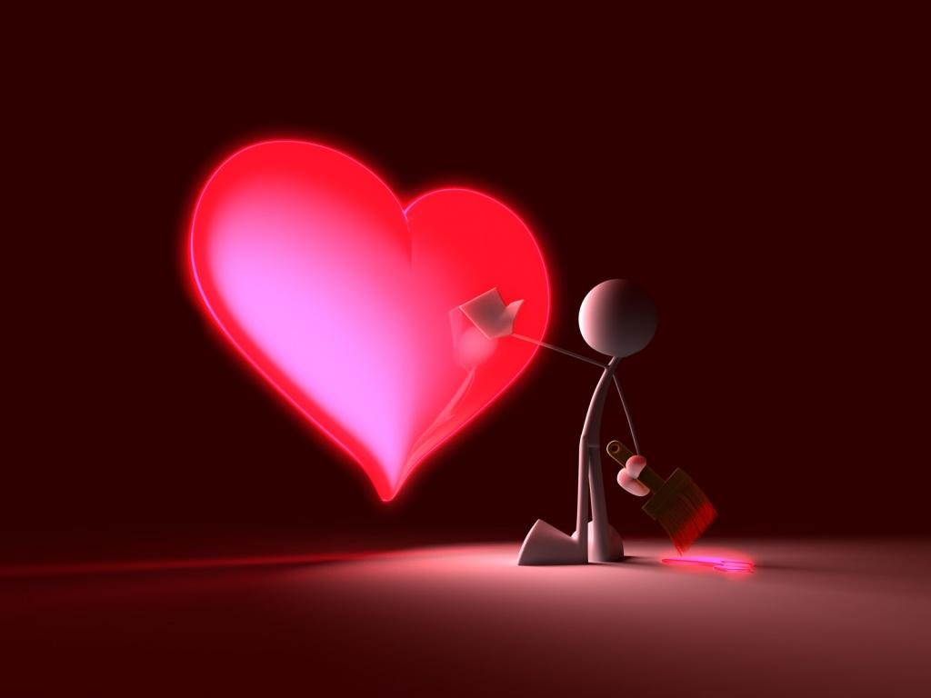 HD Wallpaper Valentine heart Wall2U 1024x768