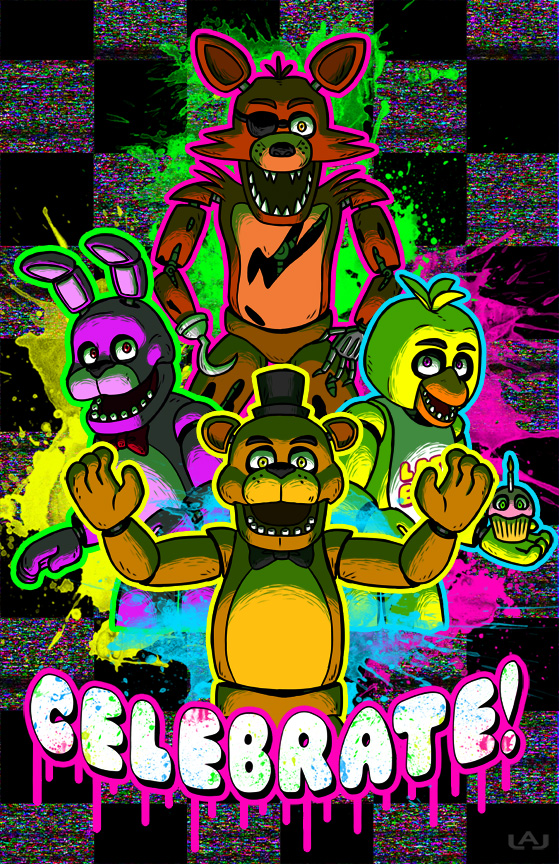 rainbow look fnaf   colorful fever Photo 37998353 559x864