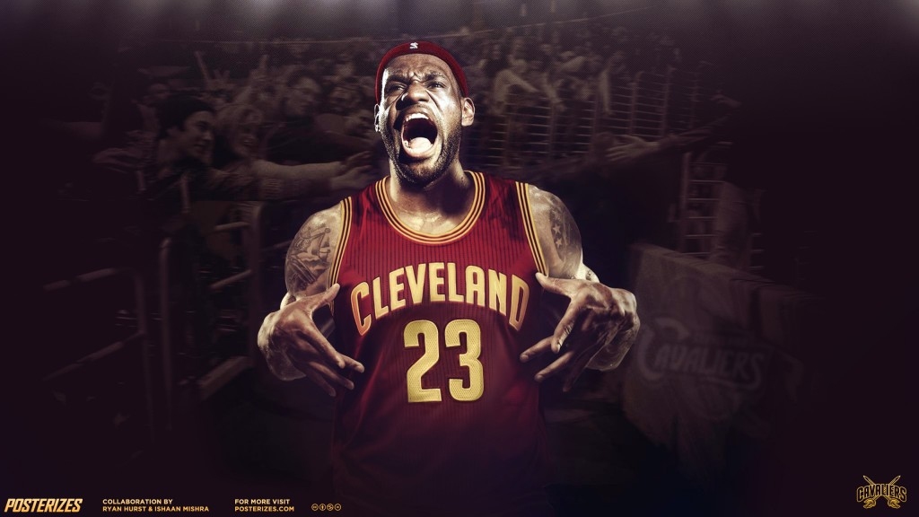 This HD Lebron James desktop wallpaper is perfect for pumping you up 1024x576