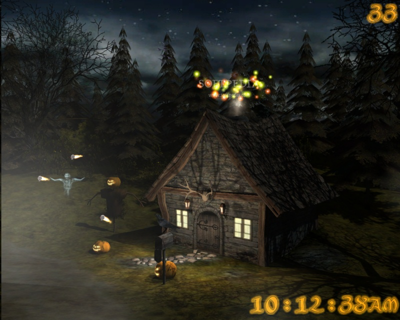 Screensaver will take you on a trip the the haunted house in the woods 800x640