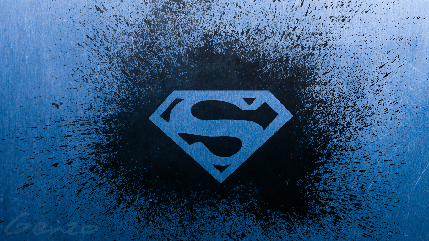 Cool Superman Logo Wallpaper 1366768 128543 HD Wallpaper Res 1366x768