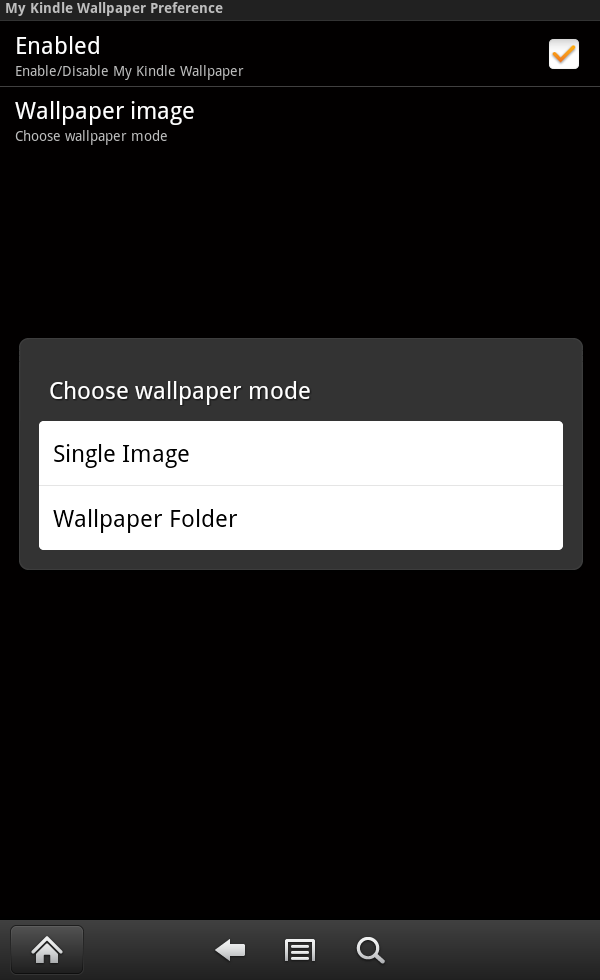 to select wallpaper mode it will show wallpaper mode option 600x980